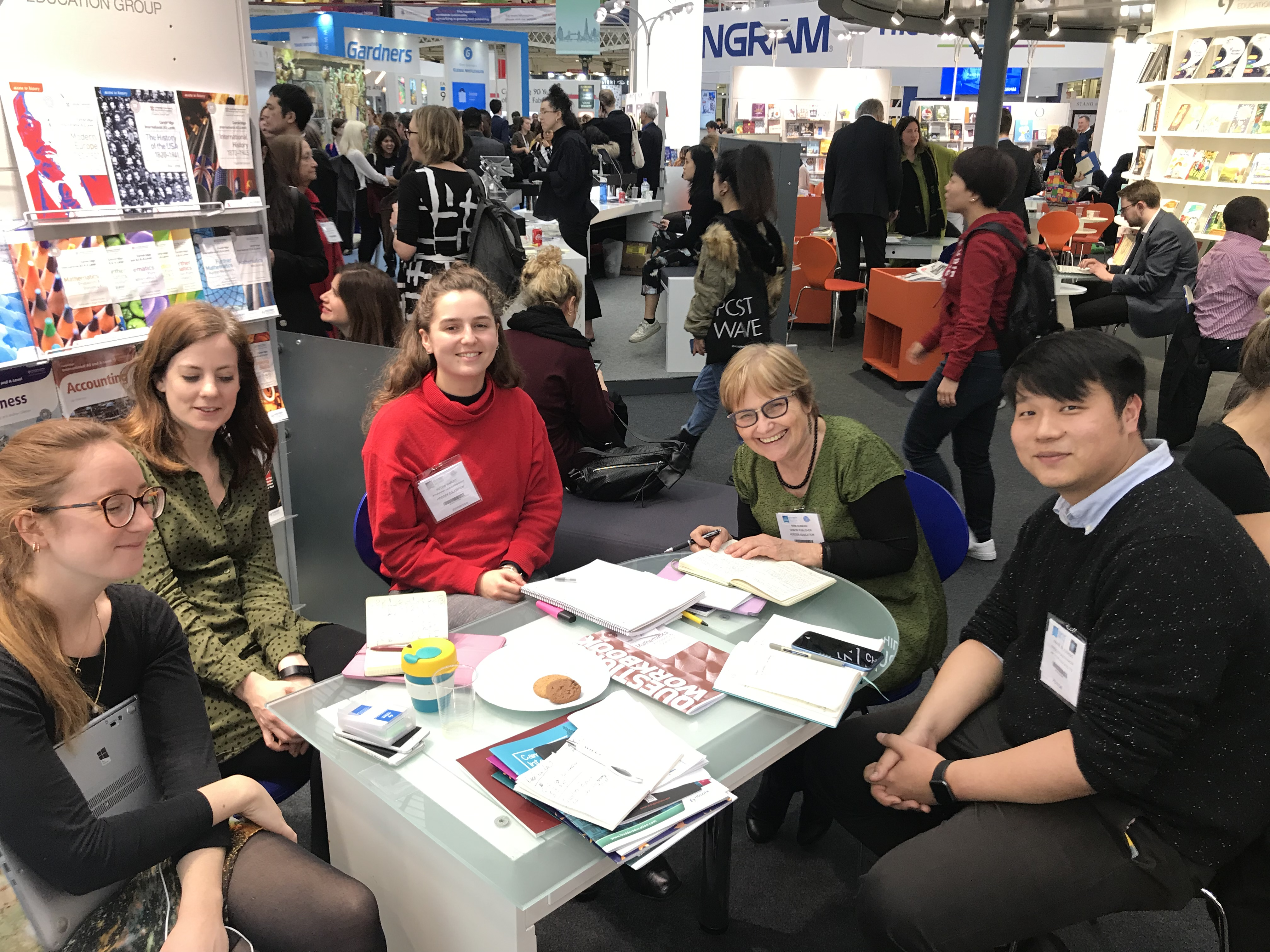 Meeting on the Hodder Education stand at LBF 2019